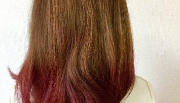 ブリーチした髪をトリートメントして染めるカラー!暗くしたい人にもオススメ